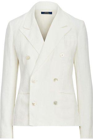 Polo Ralph Lauren Women's Double-Breasted Linen Blazer - Nevis - Size 8