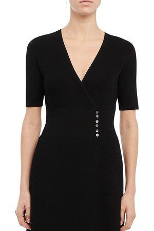 THEORY Women's Wrap Button Sweater Dress - - Size Small