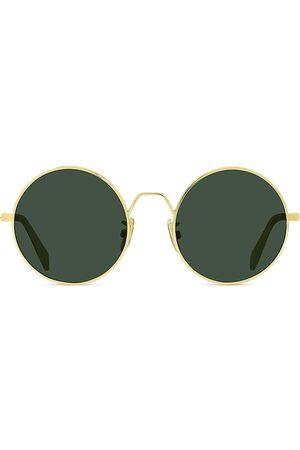 Céline Men's 50MM Round Metal Sunglasses - Lens Shiny