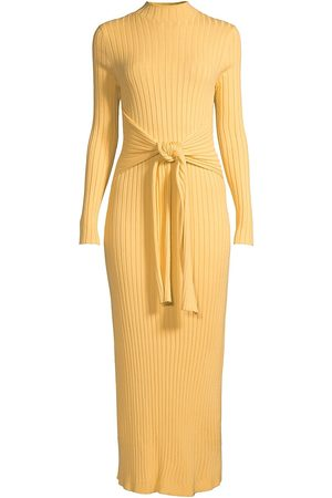 Significant Other Women's Ariana Knit Midi Dress - Marigold - Size 10
