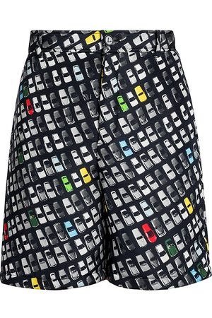 Bottega Veneta Men's Photographic Car-Print Shorts - Size 38