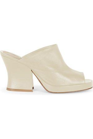 Bottega Veneta Women's Platform Leather Mules - - Size 10.5