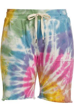 NSF Women's Jen Slouchy Tie-Dye Shorts - Skittles Dye - Size Small