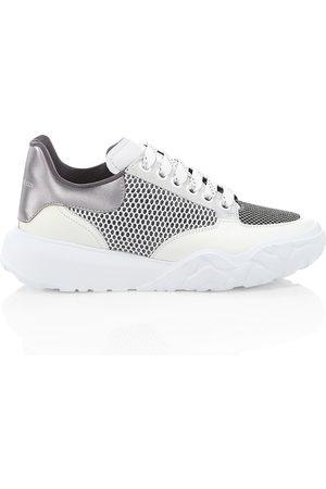 Alexander McQueen Women Shoes - Women's Women's Court Leather & Mesh Sneakers - - Size 11