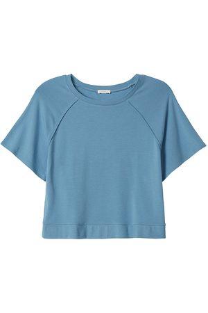 Eberjey Women Short sleeves - Women's Blair Short-Sleeve Sweatshirt - Shadow - Size Large