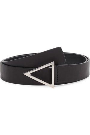 Bottega Veneta Men Belts - Men's Triangle-Buckle Leather Belt - - Size 34