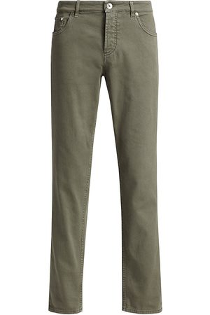 Brunello Cucinelli Women Slim - Women's Acid Wash Slim-Fit Jeans - Khaki - Size 38