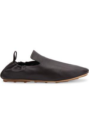 Bottega Veneta Men Flat Shoes - Men's Plank Leather Slippers - Fondant - Size 10.5