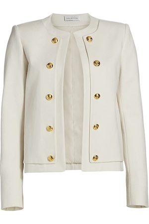 Halston Heritage Women's Theo Cropped Jacket - Powder - Size 0