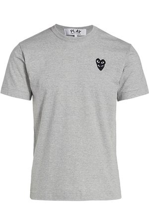 Comme des Garçons Women's Play Double Heart T-Shirt - Grey - Size XL