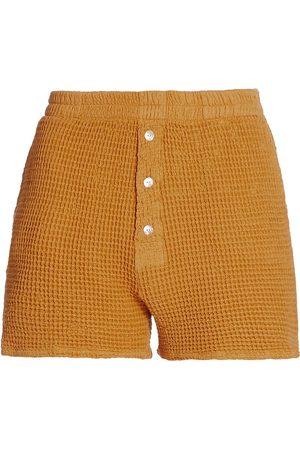 Donni Women's Waffle Knit Shorts - Honey - Size XS