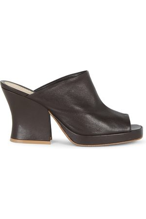 Bottega Veneta Women Platforms - Women's Platform Leather Mules - - Size 10.5