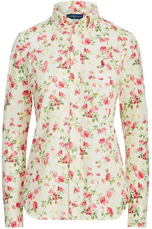 Polo Ralph Lauren Women Polo Shirts - Women's Floral-Print Shirt - Sweet Pea Floral - Size Large