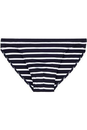 Hom Men Swimwear - Men's Micro Stripe Swim Briefs - Navy Stripe - Size XXL