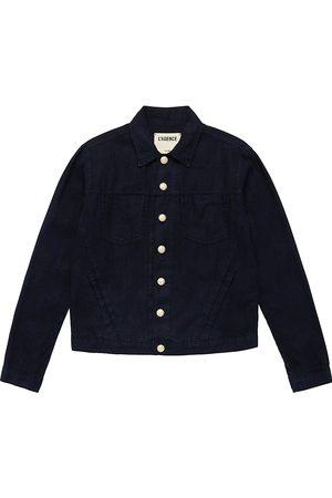 L'Agence Women's Celine Linen Jacket - Marine - Size Medium