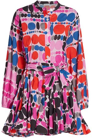 Rhode Women's Emma Geometric Print Dress - Dots - Size XL