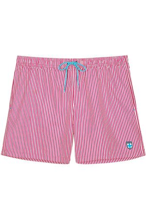 Hom Men's Beach Boxer Swim Shorts - Stripe - Size Medium