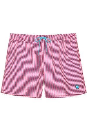 Hom Men's Beach Boxer Swim Shorts - Stripe - Size Medium