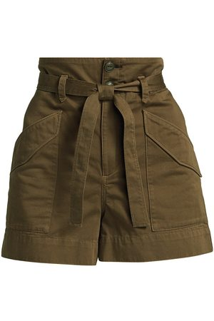 RAG&BONE Women's Field Cargo Shorts - Dark Olive - Size 26