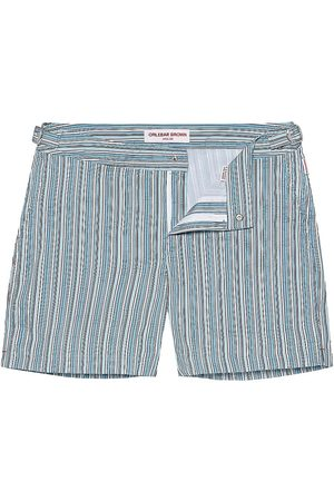 Orlebar Brown Men's Bulldog Montauk Stripe Swim Shorts - Navy Bright - Size 36