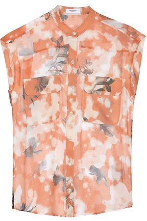Equipment Women's Covisa Floral Silk Shirt - Sunburn Multi - Size XS
