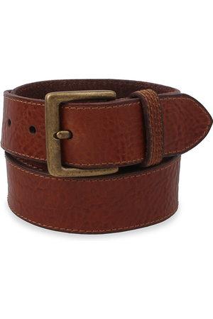Frye Men's Flat Panel Leather Belt - Cognac - Size 38