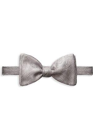 Eton Men's Paisley Silk Bow Tie - Grey