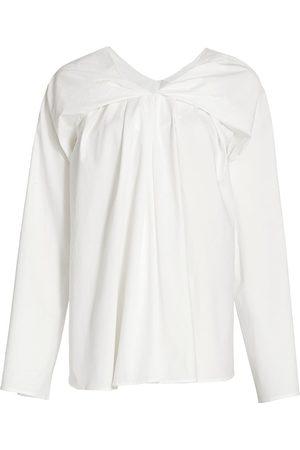 Tove Women's Hana Folded Poplin Top - - Size 4