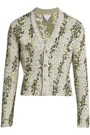 Bottega Veneta Men's Jacquard Cardigan - String - Size XS