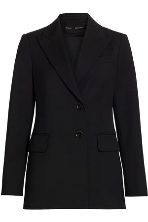 Proenza Schouler Women Blazers - Women's Wool-Blend Suiting Core Blazer - - Size 8