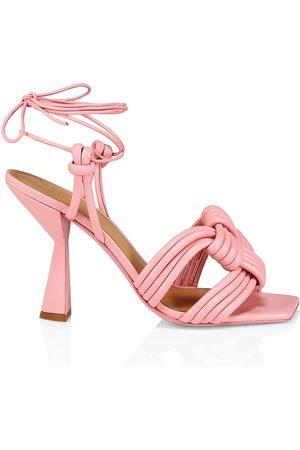 Mercedes Castillo Women's Tamara Ankle-Tie Leather Sandals - - Size 8.5