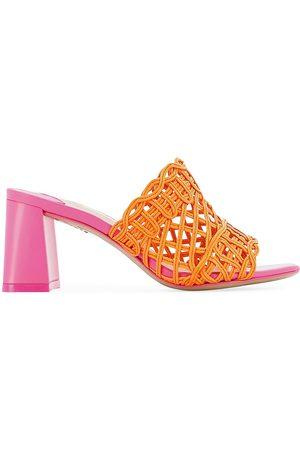 SOPHIA WEBSTER Women's Delphine Mid Block Mule Sandals - Melon - Size 9
