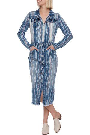 WASH LAB Women Dresses - Women's Painter Long Sleeve Denim Dress