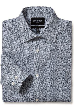 BONOBOS Men Shirts - Men's Jetsetter Slim Fit Stretch Plaid Dress Shirt