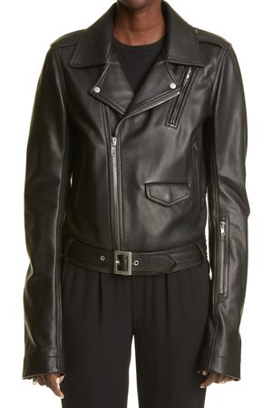 Rick Owens Women's Women's Lukes Stooges Leather Biker Jacket