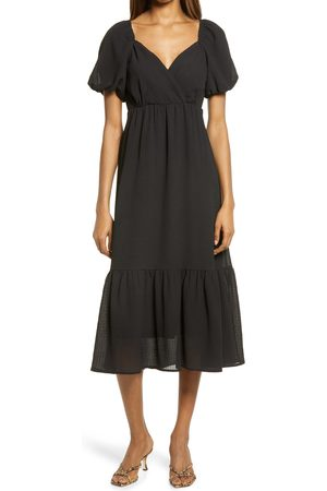 Fraiche by J Women's Balloon Tiered Midi Dress