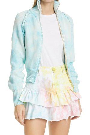 LOVESHACKFANCY Women's Florrie Zip-Up Sweater