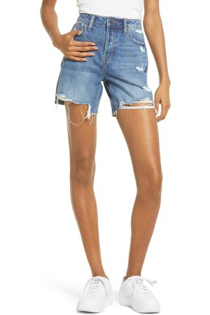 HIDDEN JEANS Women's Grinded High Waist Denim Mom Shorts