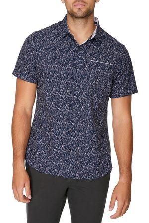 7 Diamonds Men's Dimension Short Sleeve Stretch Button-Up Shirt