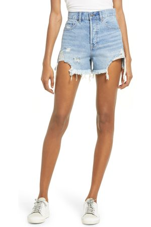HIDDEN JEANS Women's Chewed Hem Distressed Denim Shorts