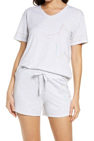 Emerson Road Women's Embroidered Star Short Pajamas