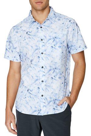 7 Diamonds Men Short sleeves - Men's Crystal Cove Short Sleeve Button-Up Performance Shirt