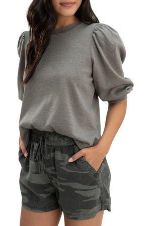 Splendid Women's Mariposa Puff Sleeve Sweatshirt