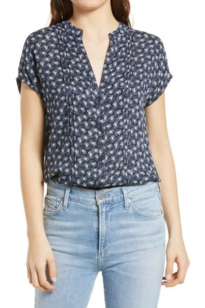 Treasure & Bond Women's Allover Print Short Sleeve Top