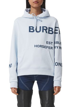 Burberry Women's Poulter Horseferry Print Cotton Hoodie