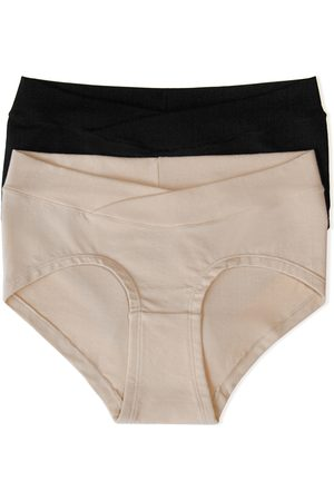 Kindred Bravely Women's Assorted 2-Pack Maternity Hipster Briefs