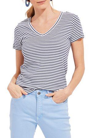 Vineyard Vines Women's Simple Stripe V-Neck T-Shirt