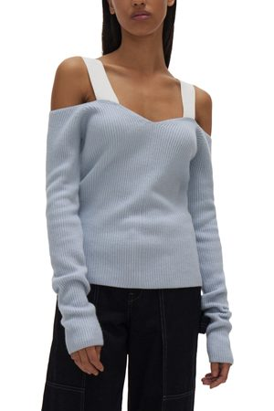 Helmut Lang Women's Off The Shoulder Rib Top