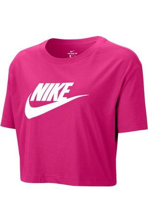Nike Sportswear Essential Cropped L Fireberry / White