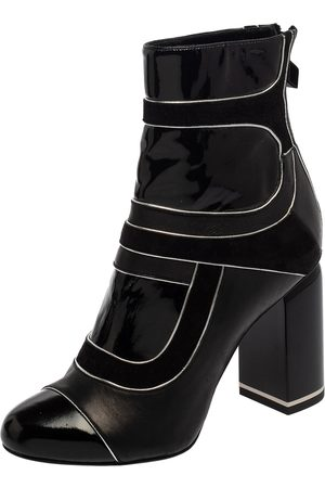 Pierre Hardy Leather And Suede Heeled Zipper Detail Boots Size 37